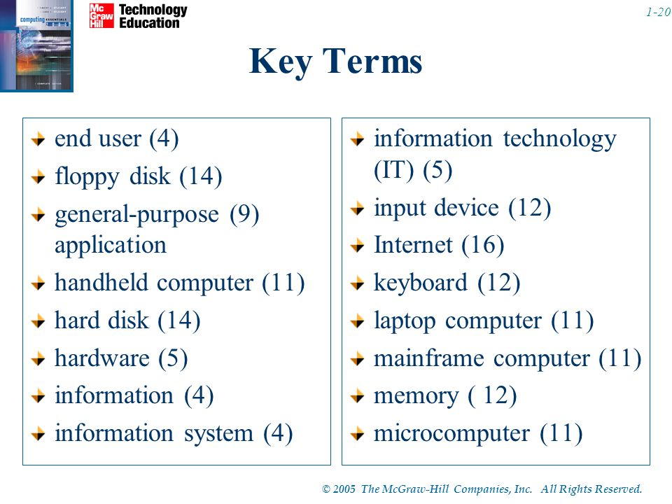 Key Terms end user (4) floppy disk (14)