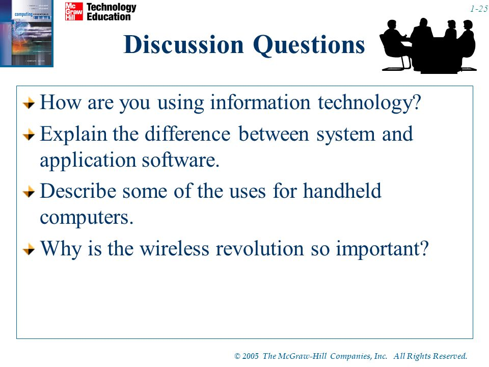 Discussion Questions How are you using information technology