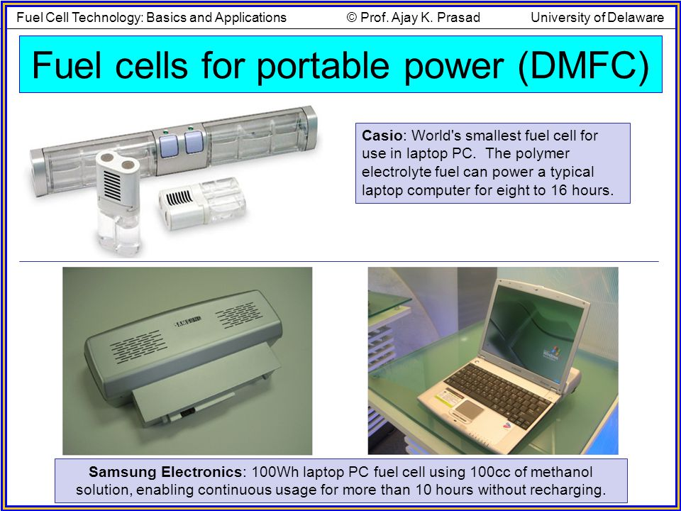 Fuel cells for portable power (DMFC)