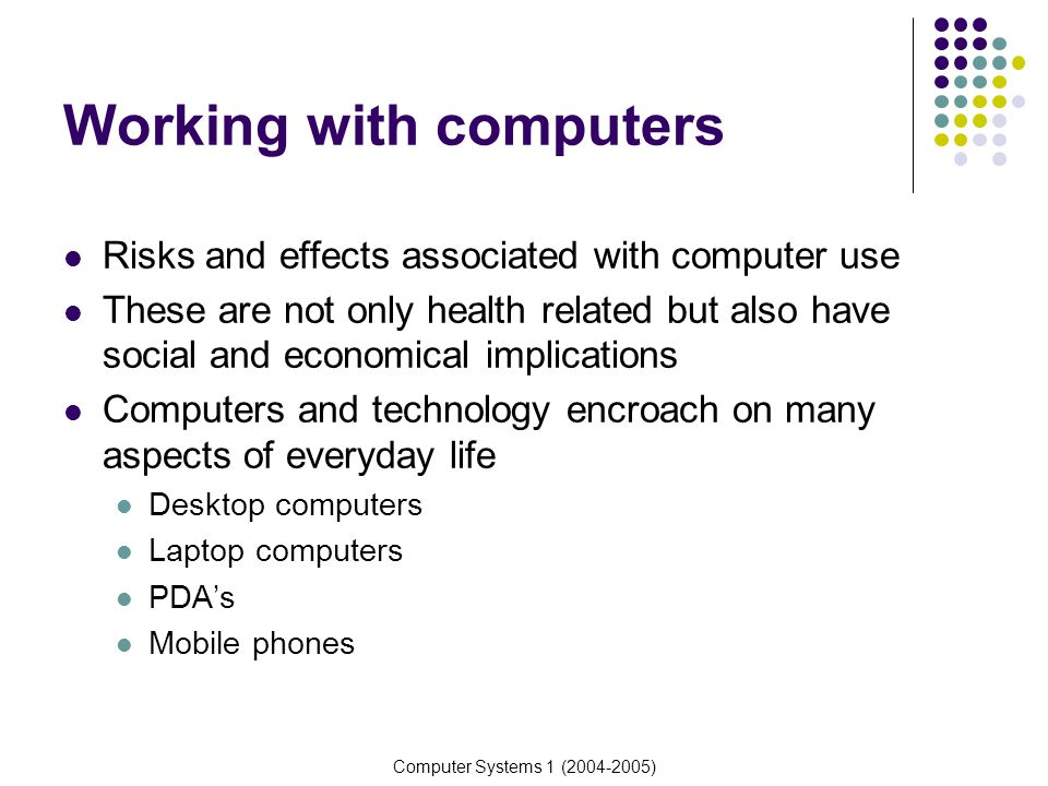 Health effects of using electronic devices