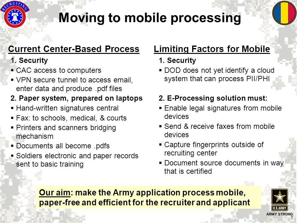 Moving to mobile processing