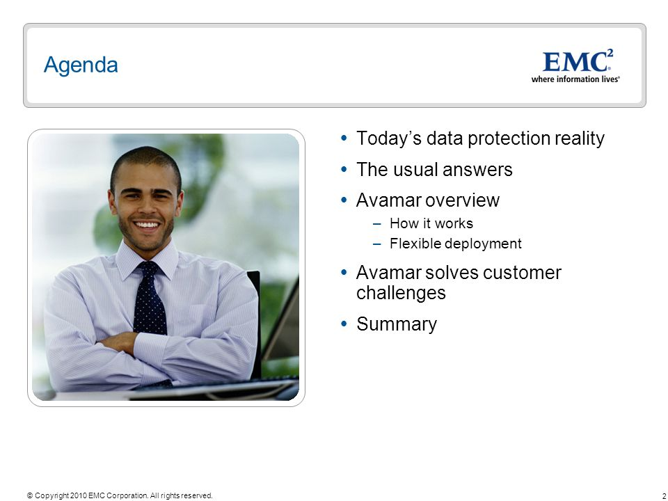Agenda Today's data protection reality The usual answers