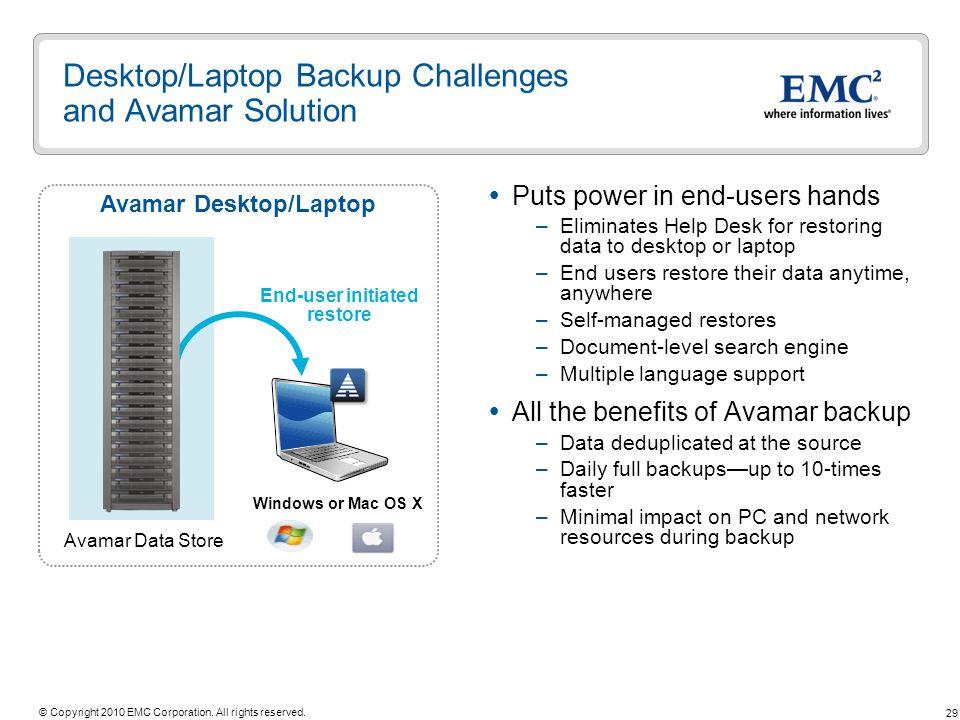 Desktop/Laptop Backup Challenges and Avamar Solution