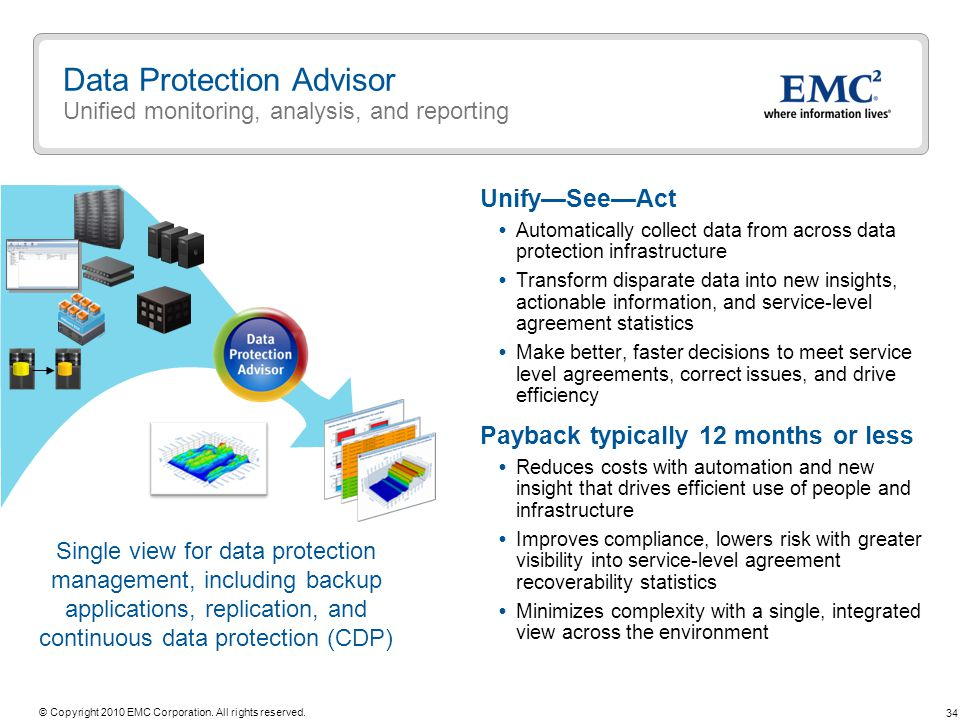 Data Protection Advisor Unified monitoring, analysis, and reporting