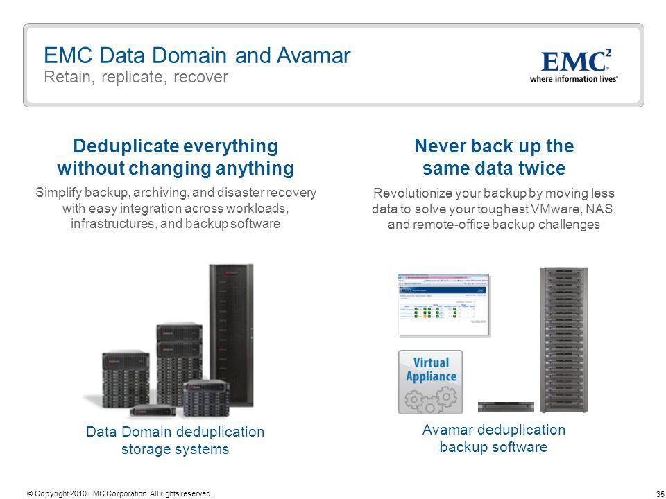 EMC Data Domain and Avamar Retain, replicate, recover