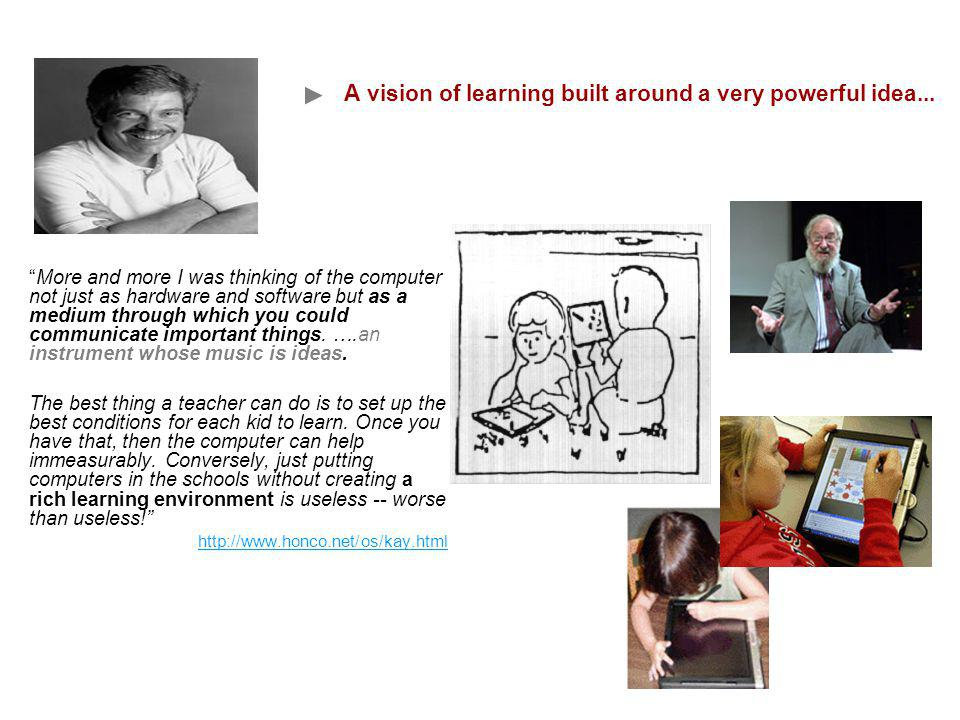 A vision of learning built around a very powerful idea...
