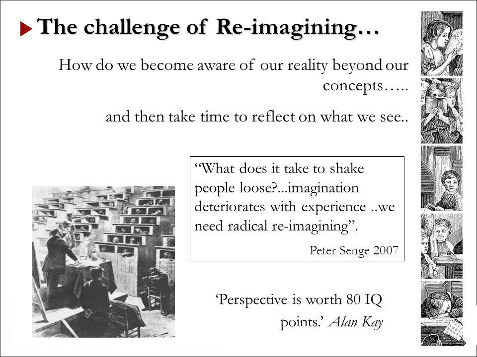 The challenge of Re-imagining…