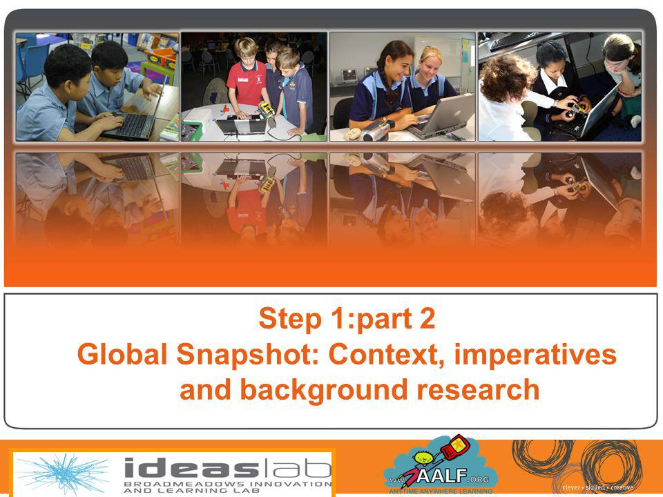 Global Snapshot: Context, imperatives and background research
