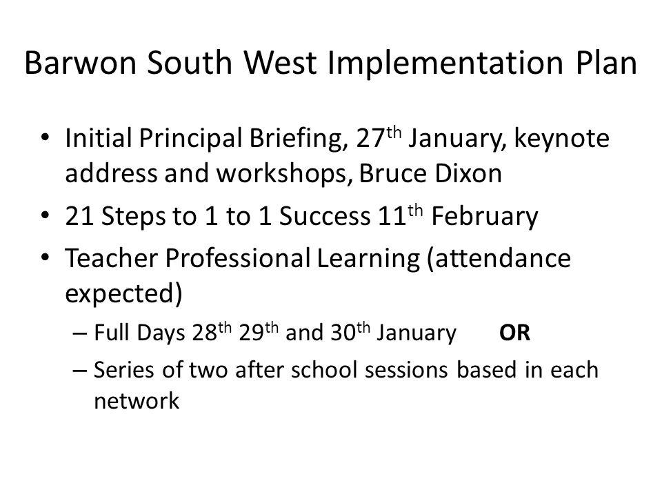 Barwon South West Implementation Plan