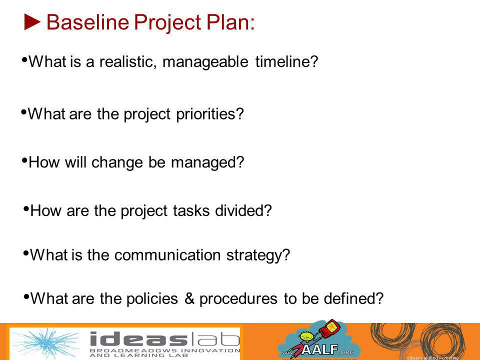 Baseline Project Plan: