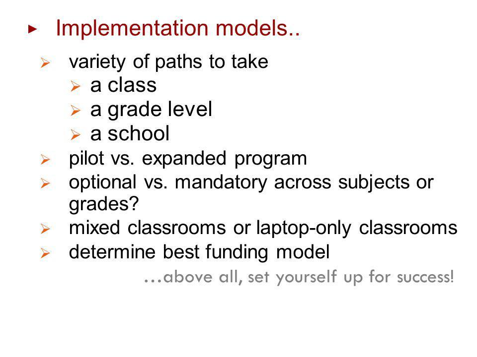 Implementation models..