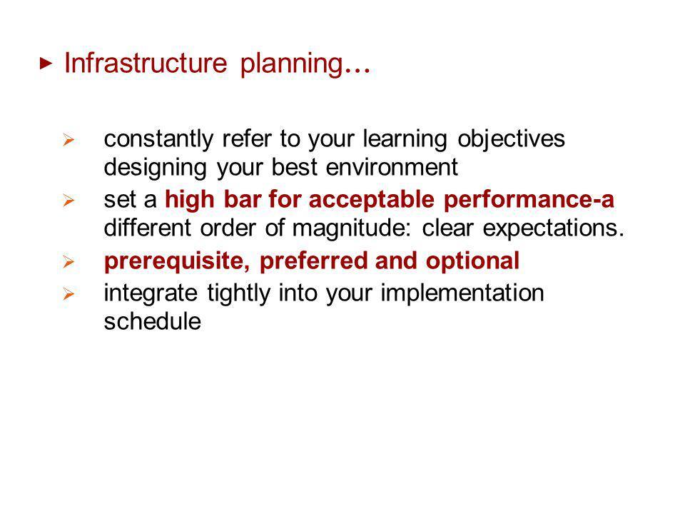 Infrastructure planning…