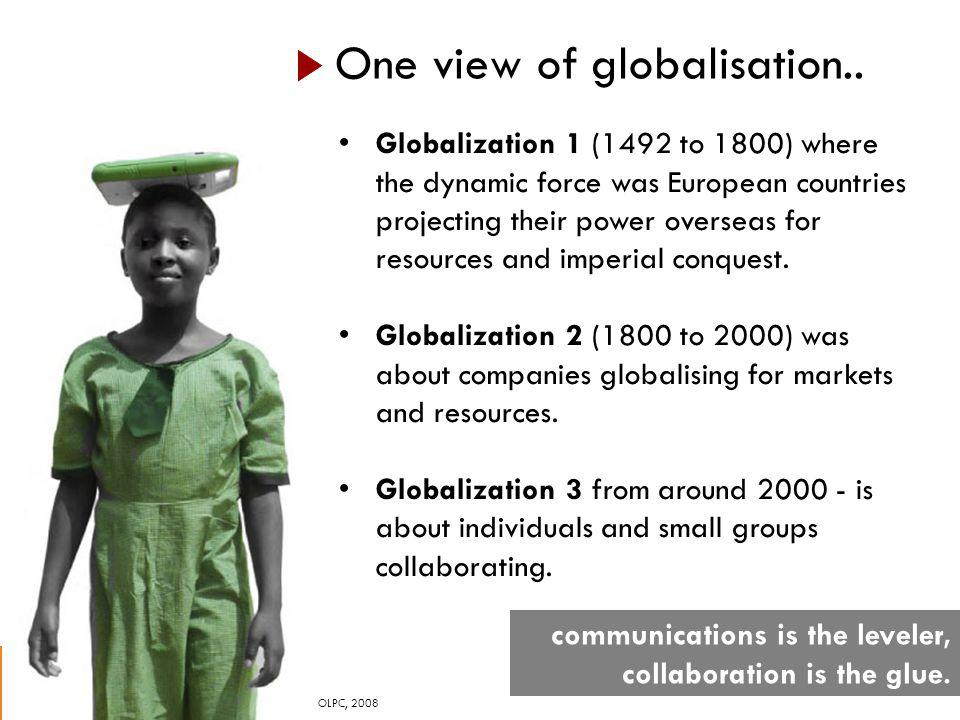 One view of globalisation..