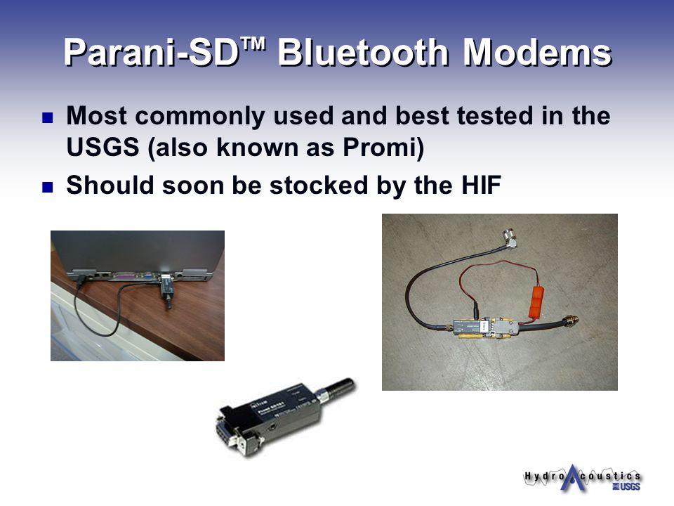 Parani-SDTM Bluetooth Modems