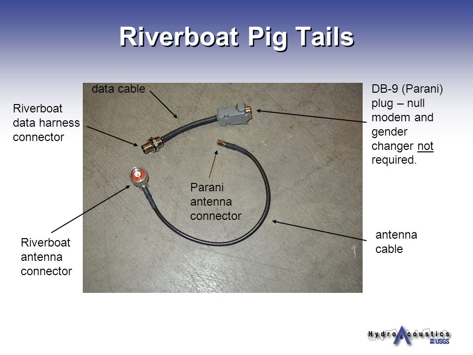 Riverboat Pig Tails data cable
