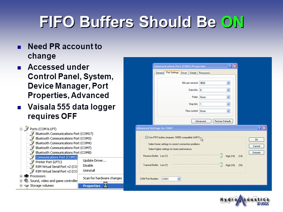 FIFO Buffers Should Be ON