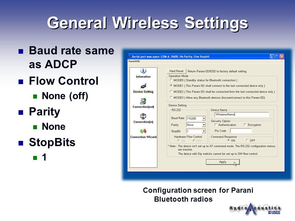 General Wireless Settings