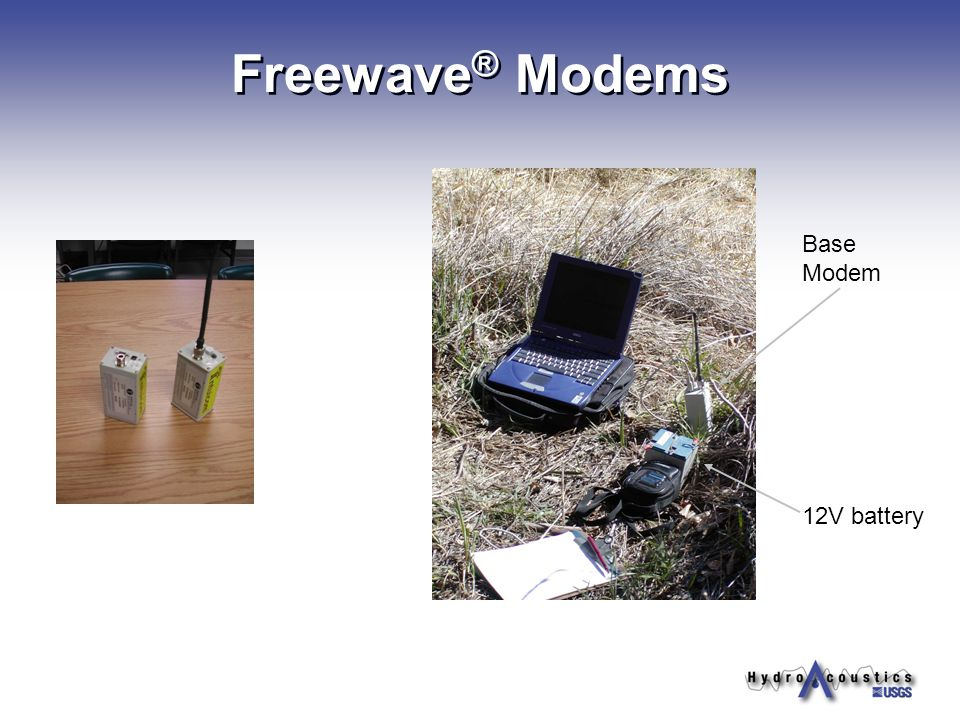 tips on use of bluetooth radios adcp s ppt 9 waveacircreg modems base modem 12v battery
