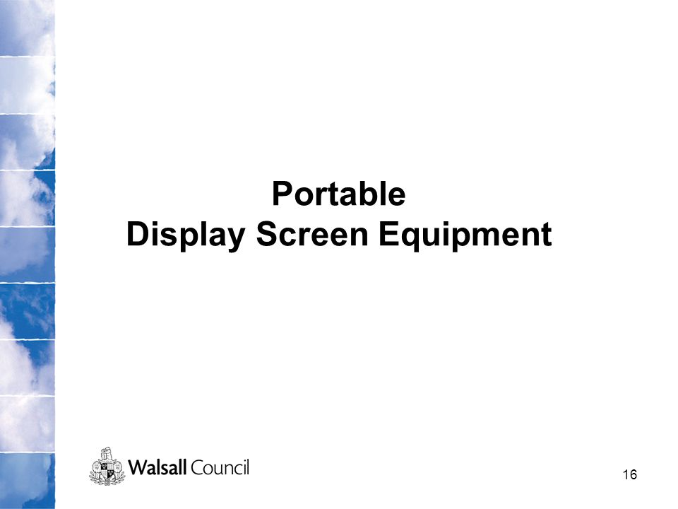 Portable Display Screen Equipment