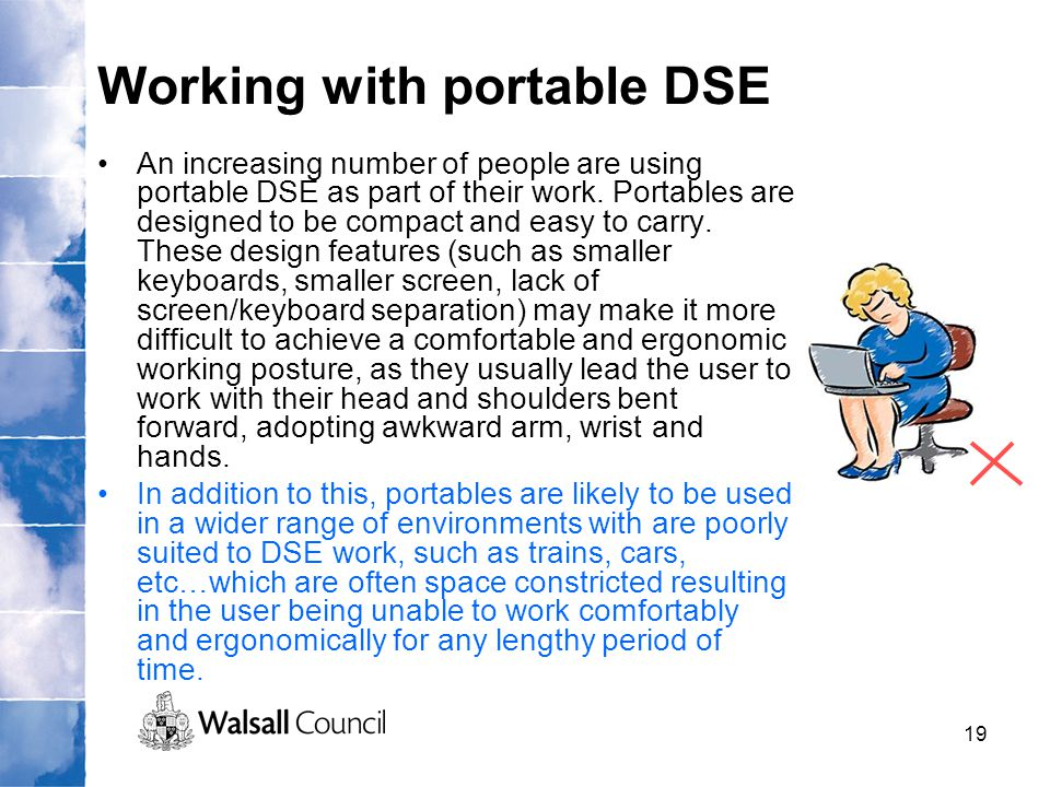 Working with portable DSE