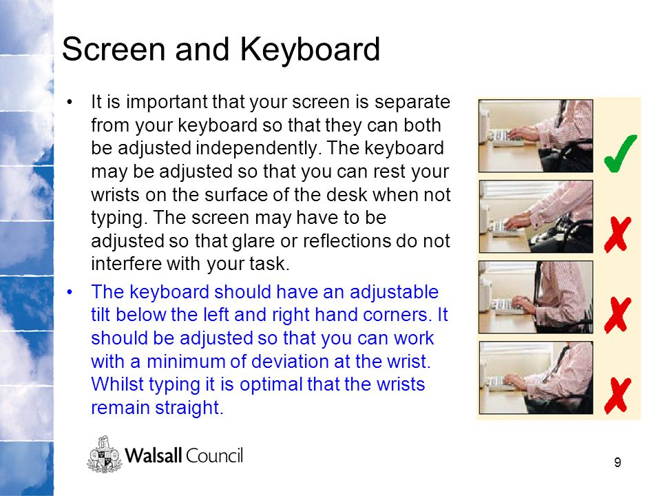 Screen and Keyboard