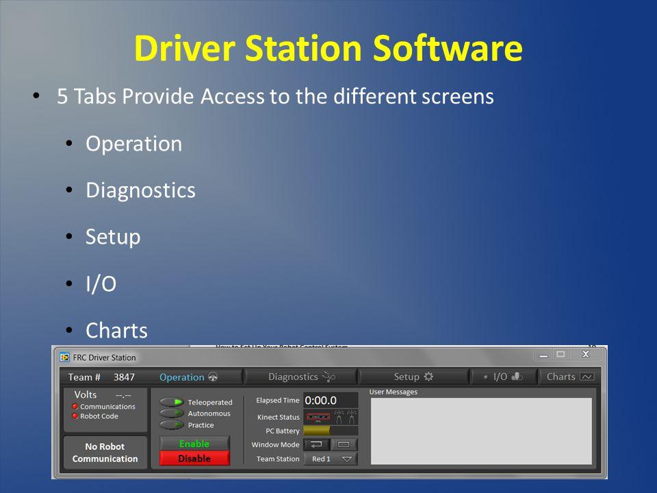 Driver Station Software