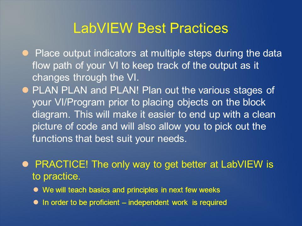 LabVIEW Best Practices