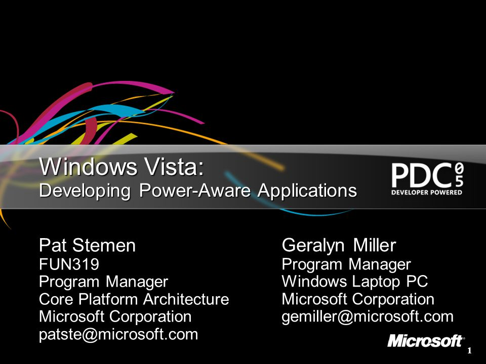 Windows Vista: Developing Power-Aware Applications