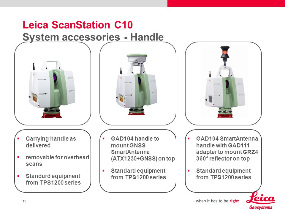 Leica ScanStation C10 System accessories - Handle