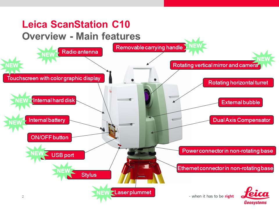 Leica ScanStation C10 Overview - Main features