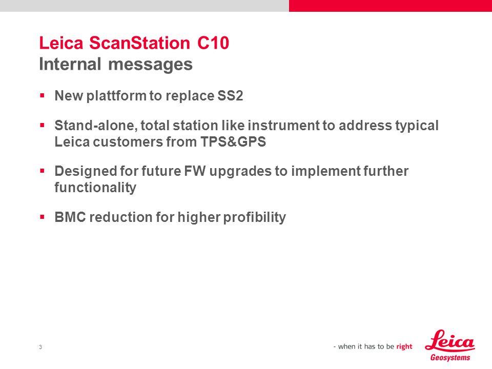 Leica ScanStation C10 Internal messages