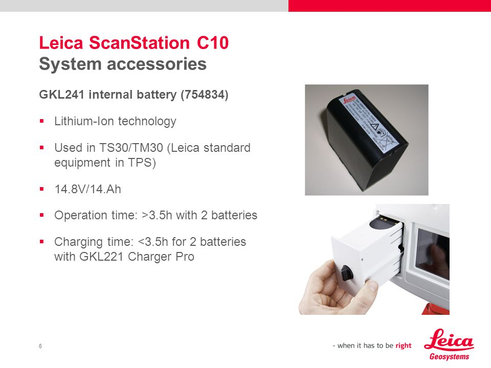 Leica ScanStation C10 System accessories