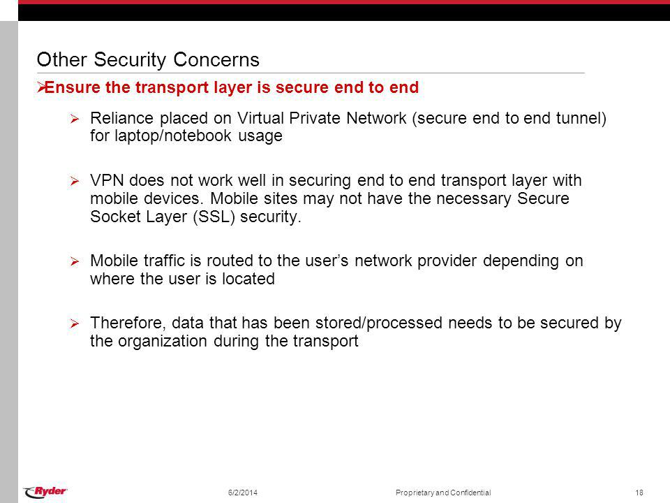 Other Security Concerns
