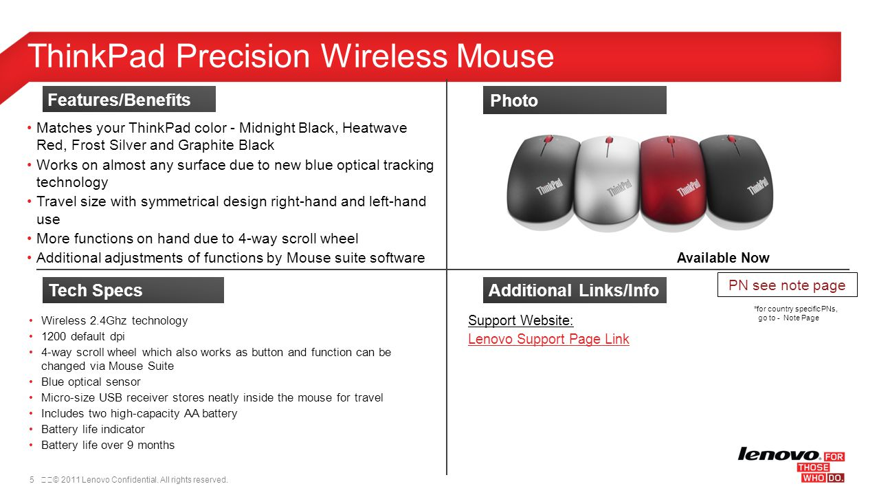 ThinkPad Precision Wireless Mouse