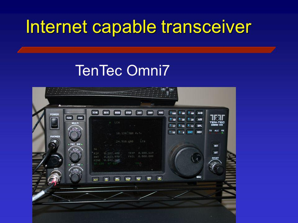 Internet capable transceiver