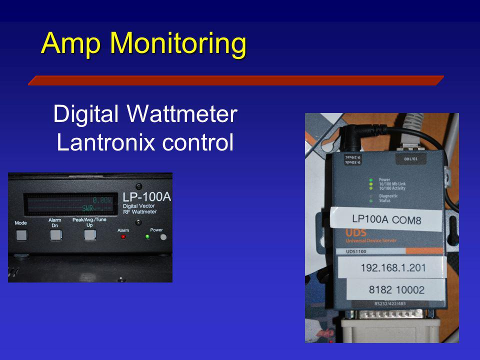 Amp Monitoring Digital Wattmeter Lantronix control Inhibits Amp