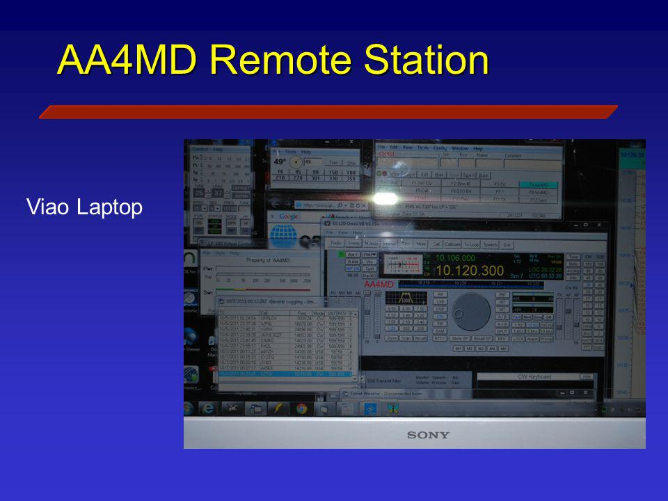 AA4MD Remote Station Viao Laptop