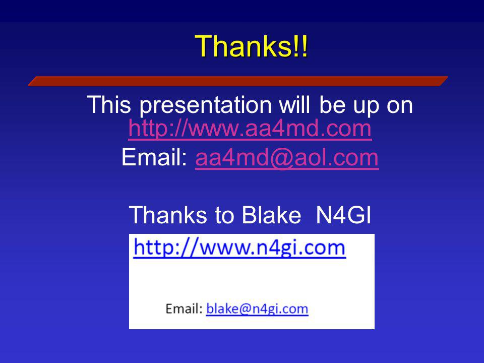 This presentation will be up on http://www.aa4md.com