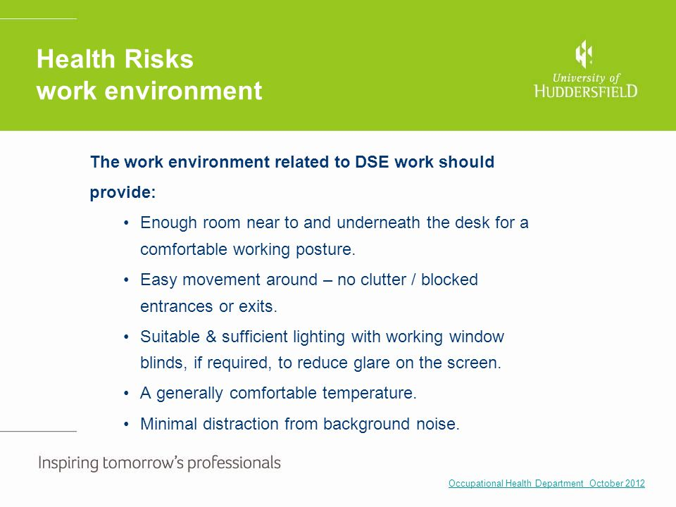 Health Risks work environment