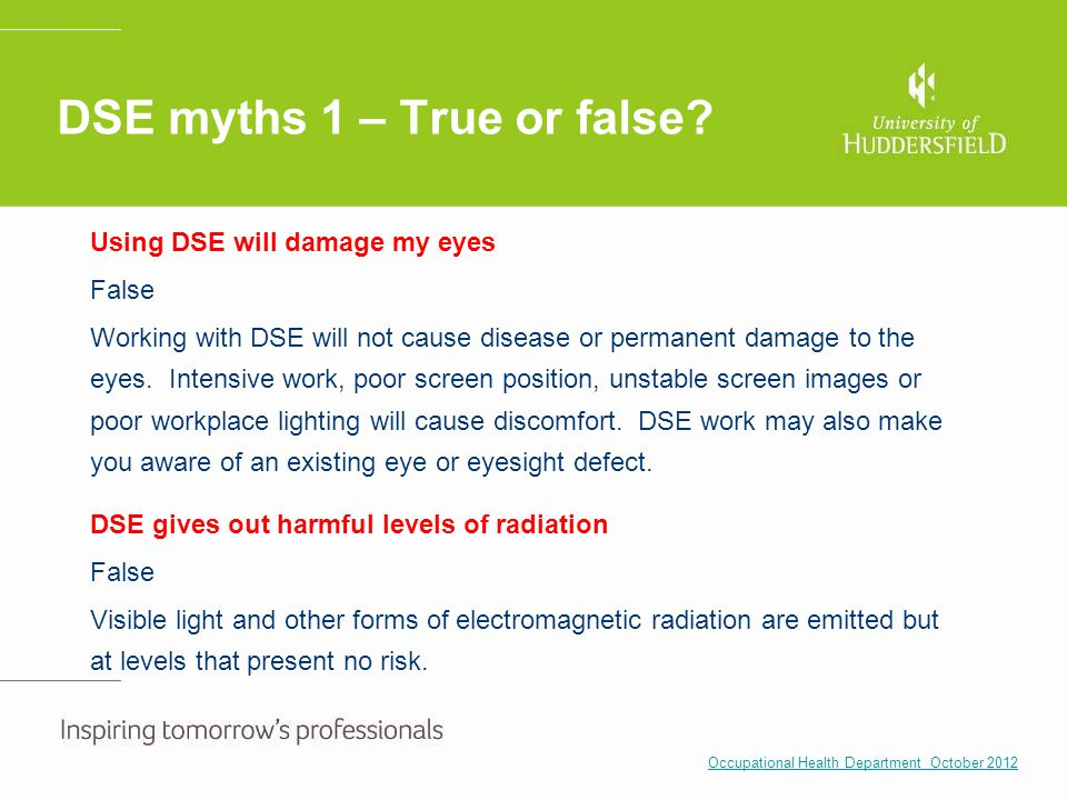DSE myths 1 – True or false