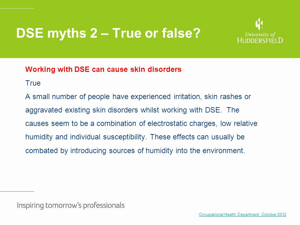 DSE myths 2 – True or false