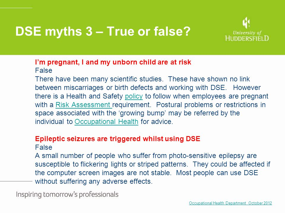 DSE myths 3 – True or false