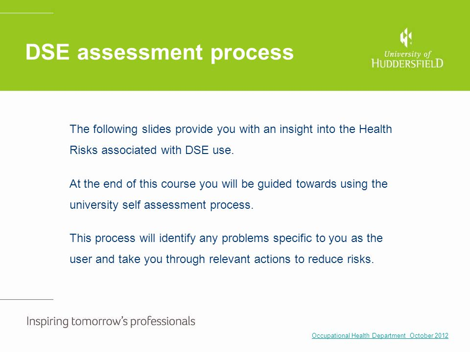 DSE assessment process