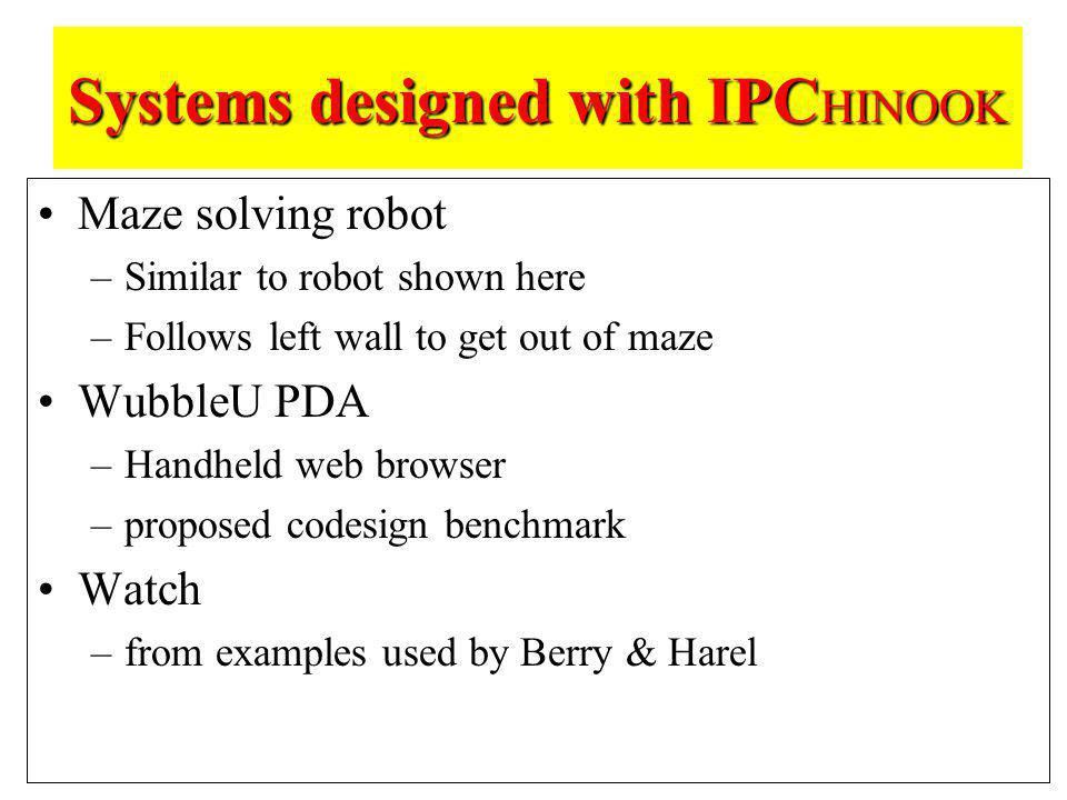 Systems designed with IPCHINOOK