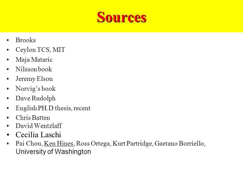 Sources Cecilia Laschi Brooks Ceylon TCS, MIT Maja Mataric
