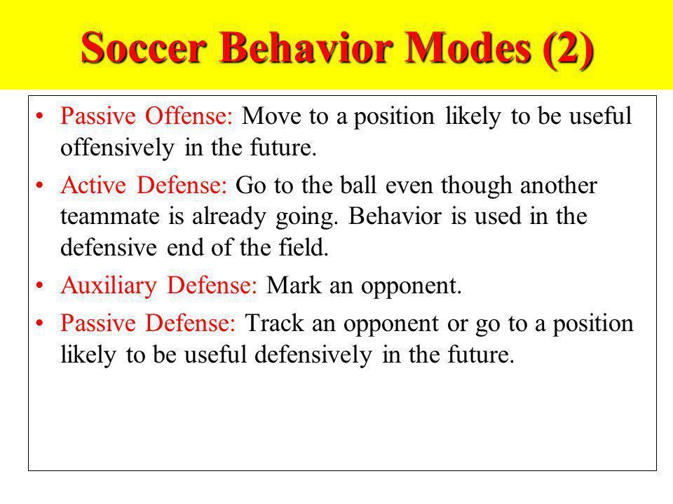 Soccer Behavior Modes (2)