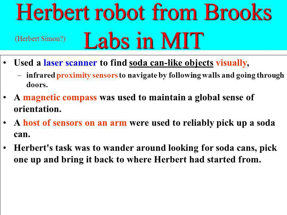 Herbert robot from Brooks Labs in MIT