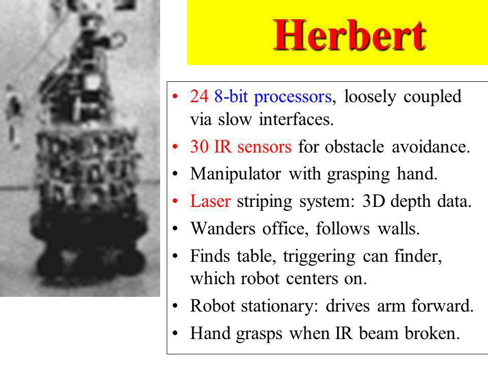 Herbert 24 8-bit processors, loosely coupled via slow interfaces.