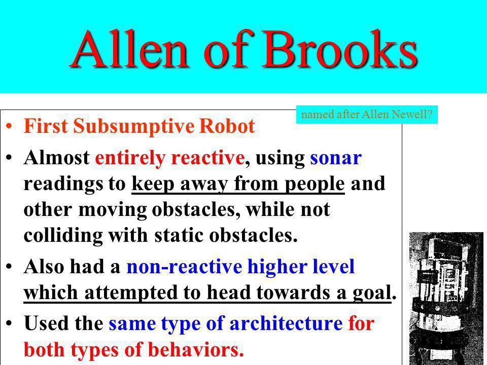 Allen of Brooks First Subsumptive Robot