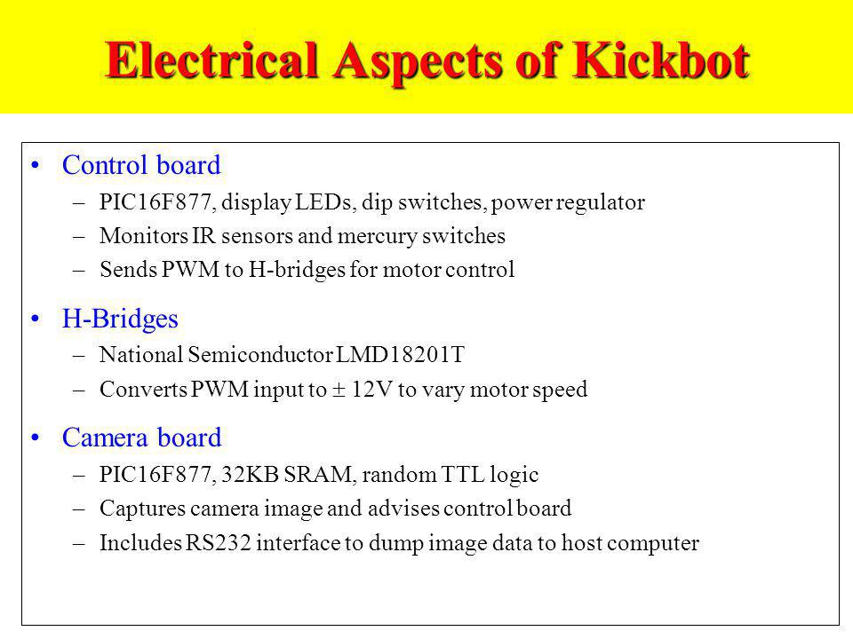 Electrical Aspects of Kickbot